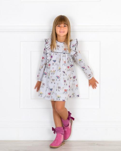 Outfit Vestido Llamas & Botines Glitter Chicle