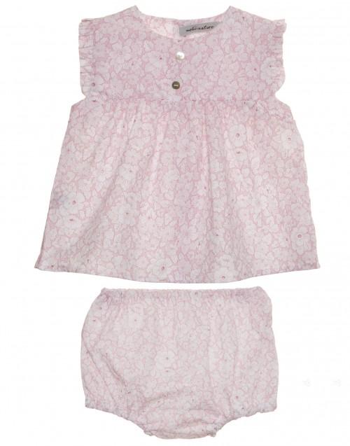 Conjunto bebe rosa Mebi compra online
