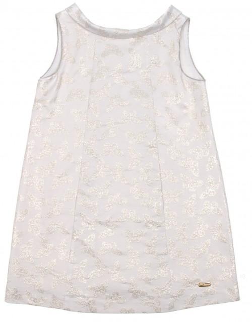 Vestido Evasé Plata & Mariposas