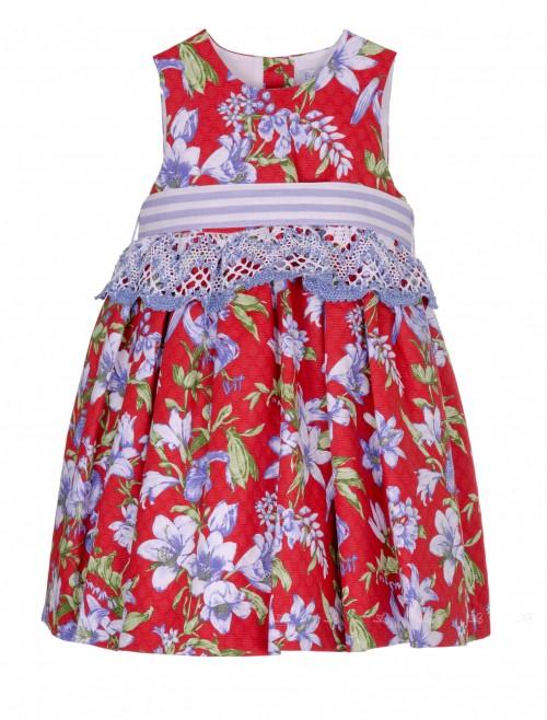 Vestido Piqué Estampado Floral