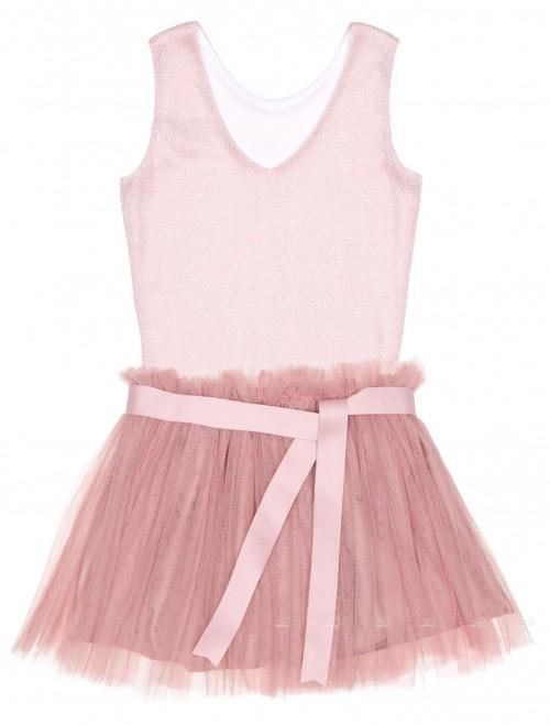 Eve children conjunto top falda tul rosa empolvado - Color rosa empolvado ...