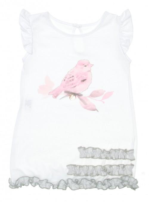 Vestido Colección Liberty Blanco & Rosa