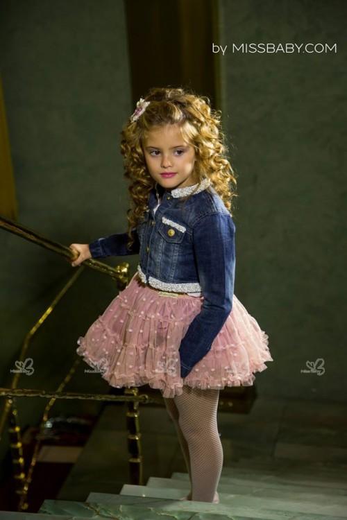 Falda de Tul Rosa Palo