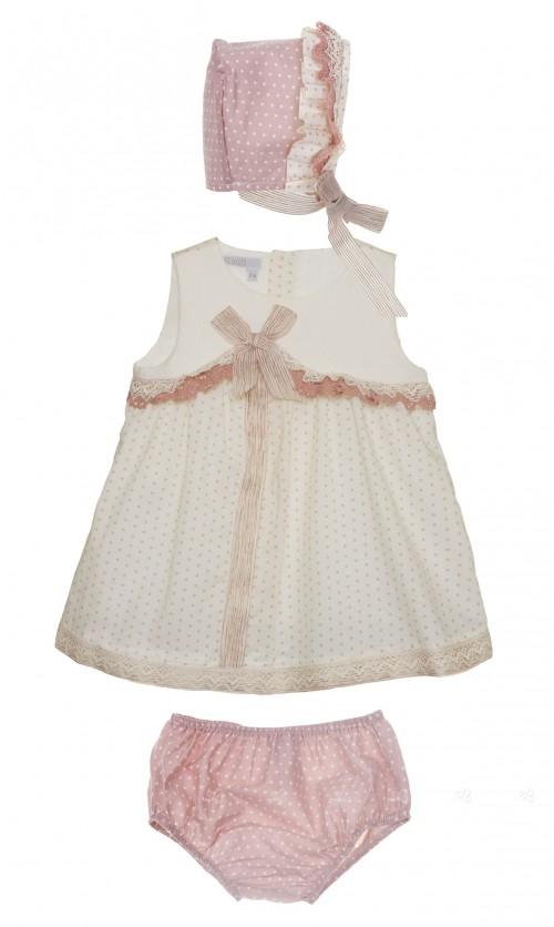 conjunto vestido braguita y capota Kauli Cupcake