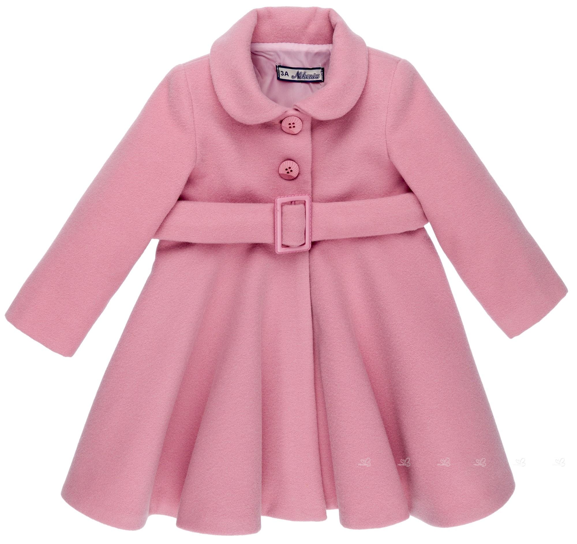 nuevo estilo mejor precio para auténtico Abrigo Niña Paño & Cinturón Rosa Palo