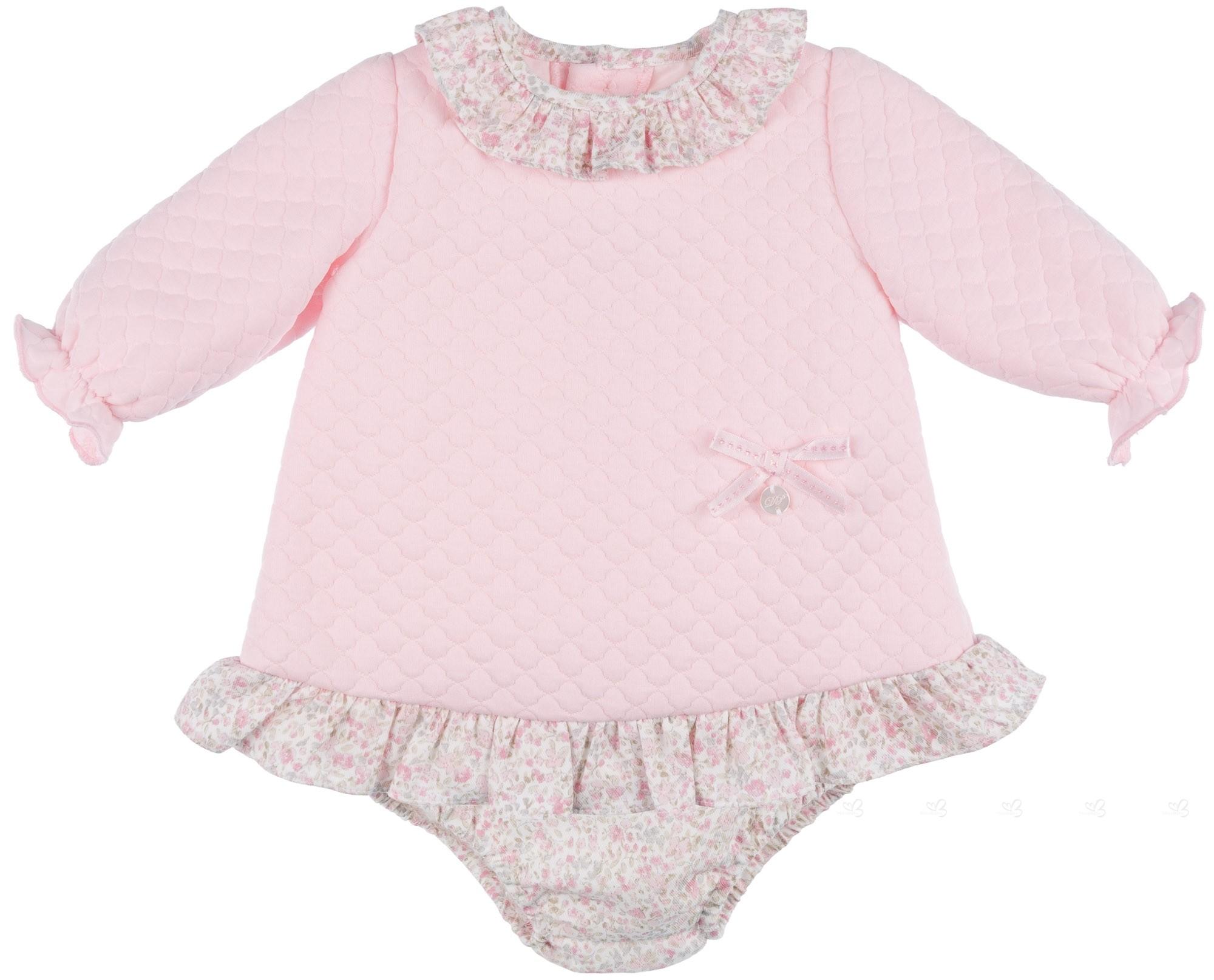 74426c71dd2fe Dolce Petit Conjunto Bebé Niña Vestido   Braguita Punto Sudadera Rosa ...