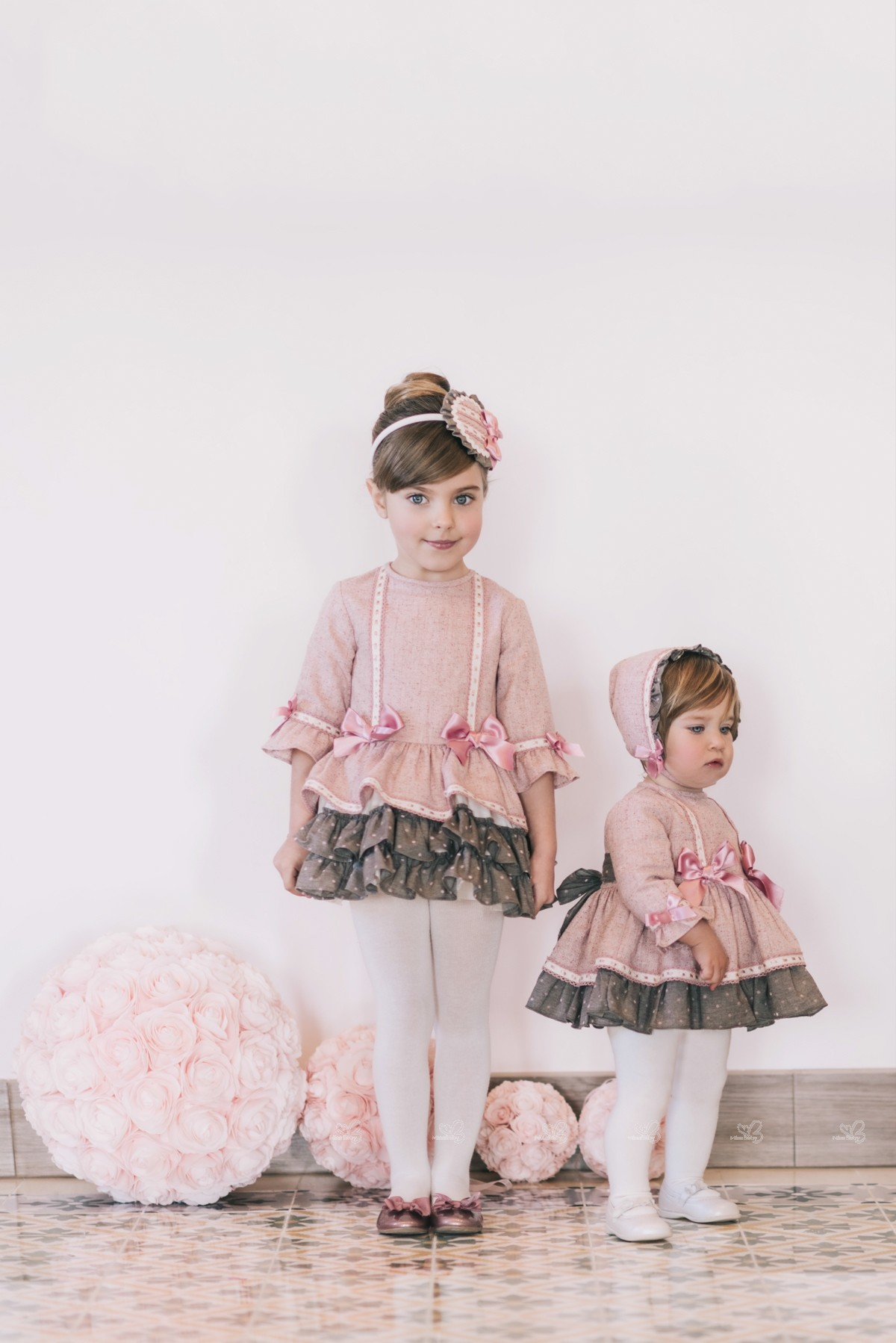 b0efdc96e Dolce Petit. Conjunto Bebé Vestido & Capota Rosa Palo | Missbaby
