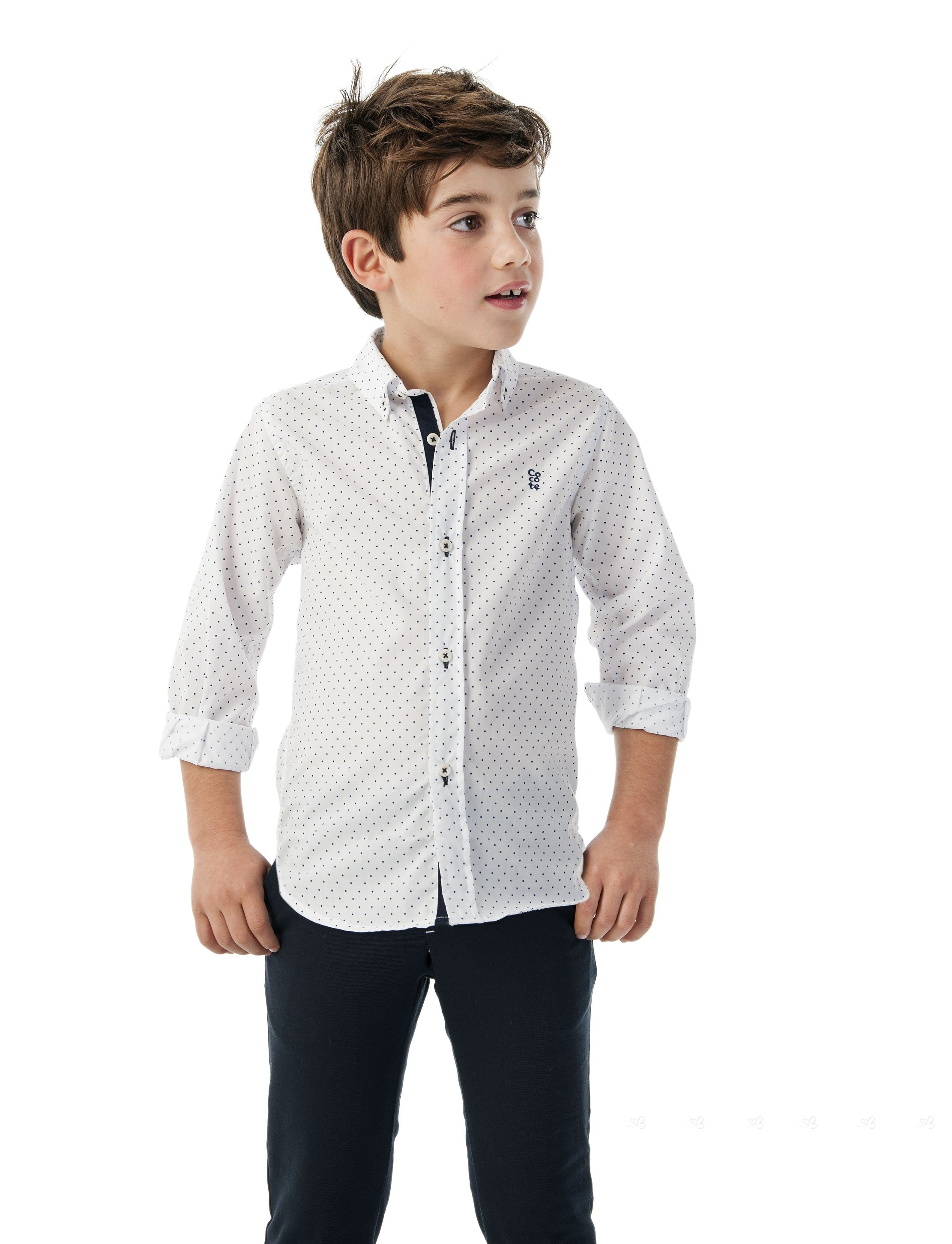 295063a1d ... Cocote Conjunto Niño Camisa Lunares   Pantalón Marino ...