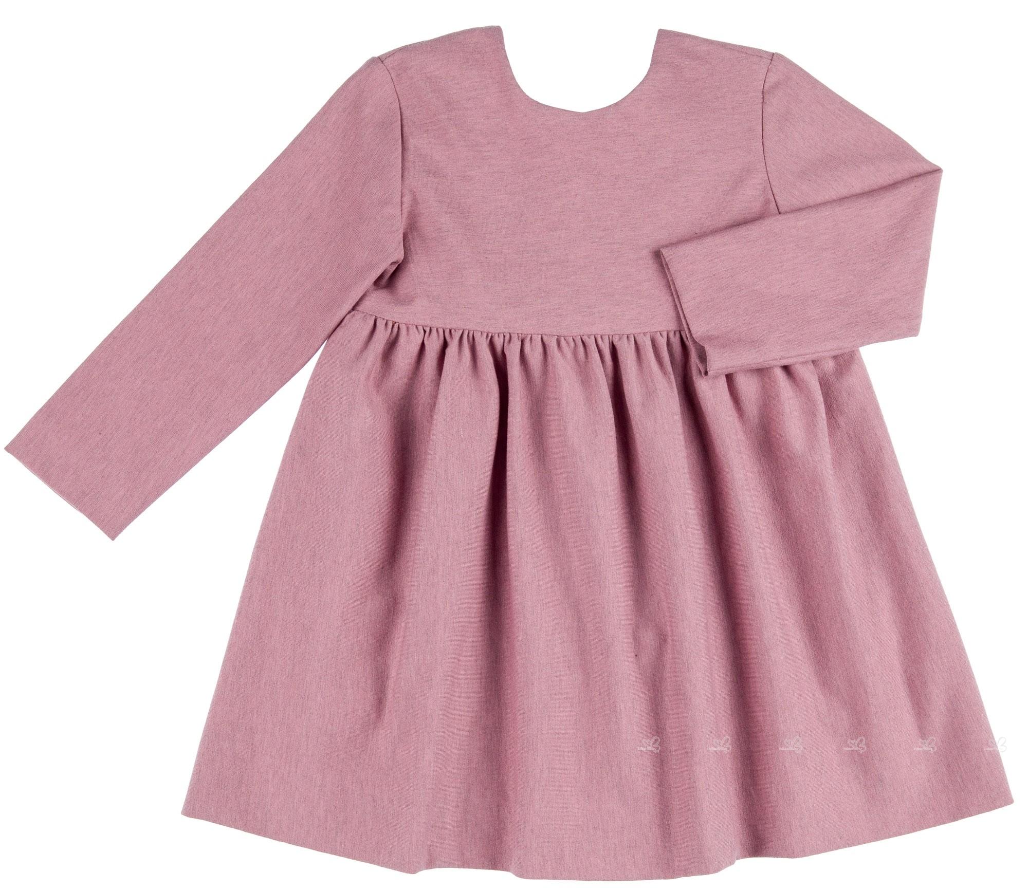 Vestido Niña Punto Sudadera Rosa Viejo