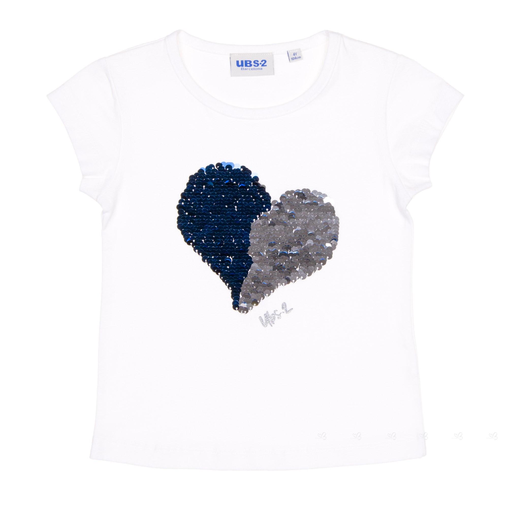 Camiseta corazón de lentejuelas reversibles |