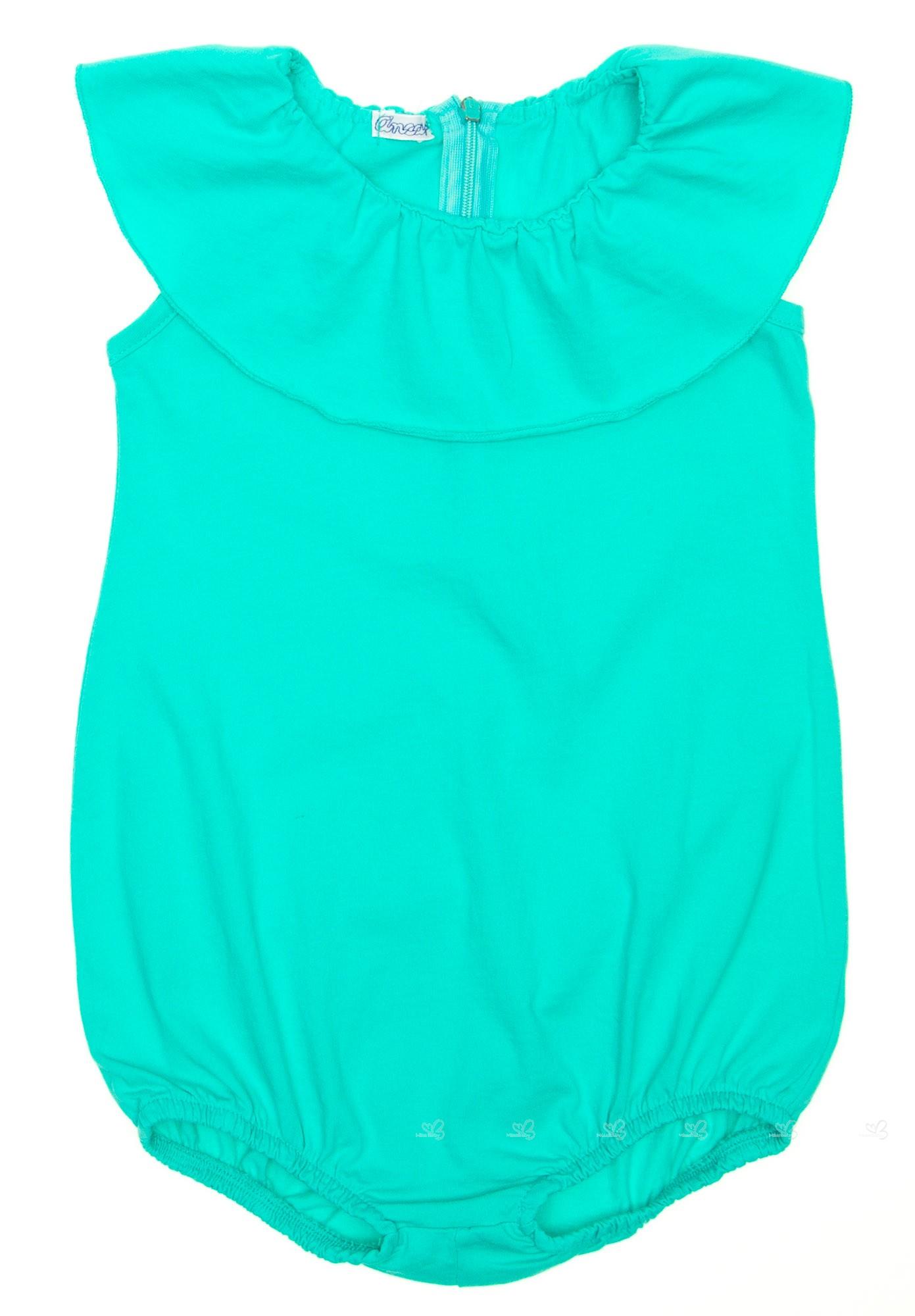 Baño Color Verde Agua:Mono baño verde agua cuello volante