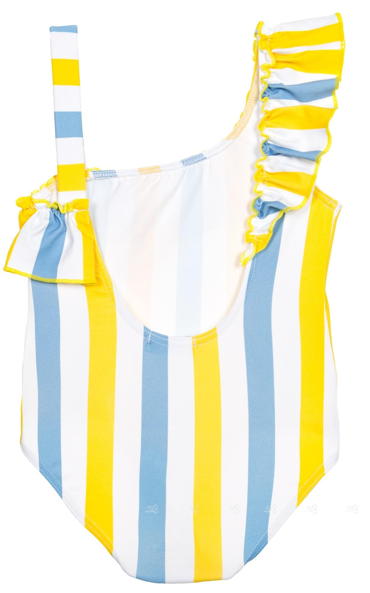 f8d383909 Rochy Bañador Volante Hombro Rayas Amarillo   Azul