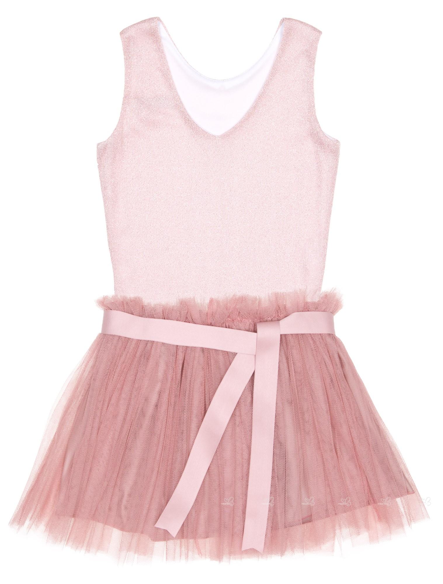 Eve children conjunto top falda tul rosa empolvado plateado missbaby - Color rosa empolvado ...