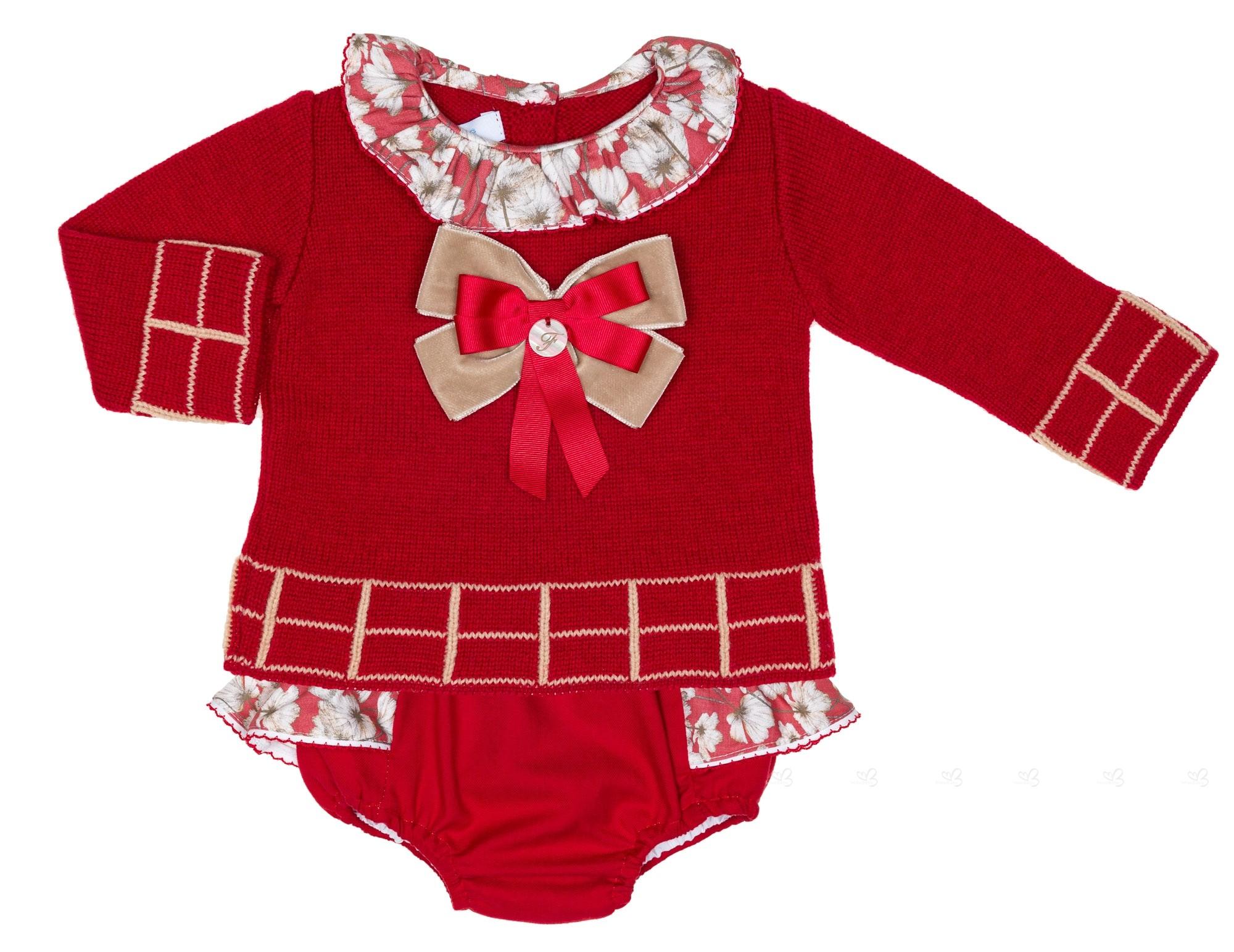 Conjunto Bebe Jersey Punto   Ranita Rojo Colección Pinocho ... 334ee395b7f3