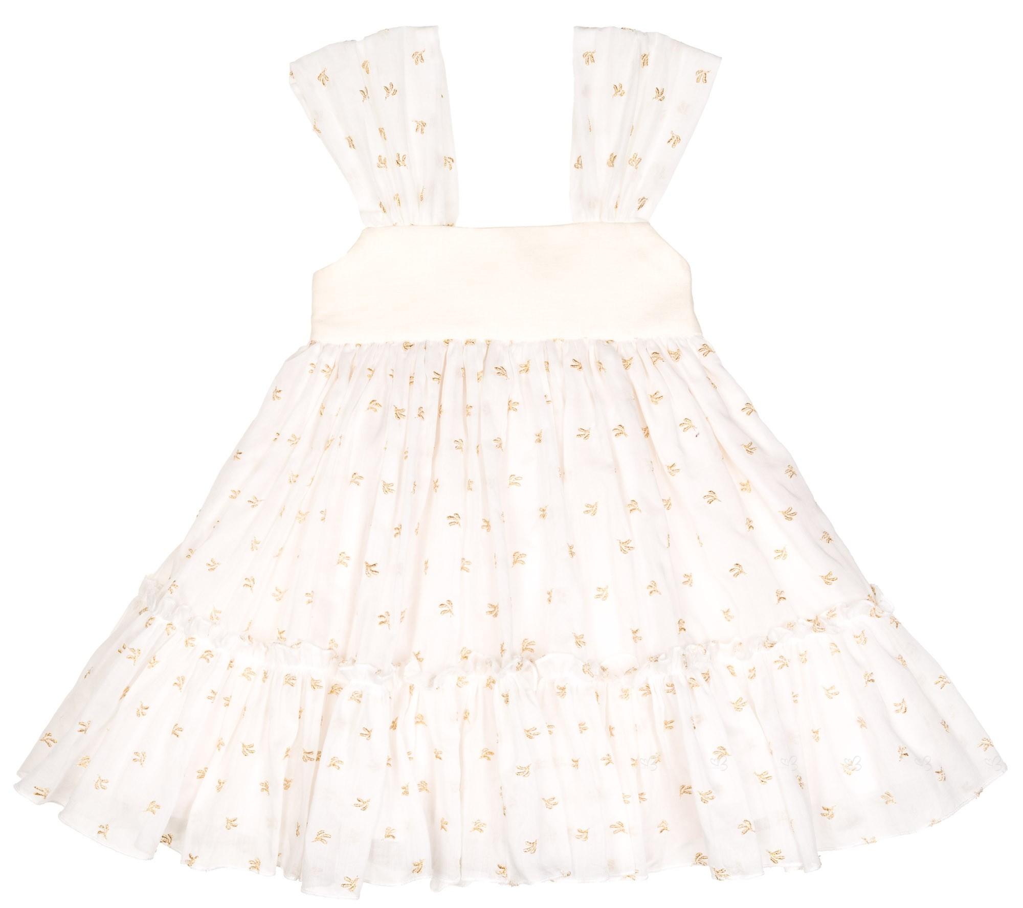 Que pasa con el vestido blanco y dorado
