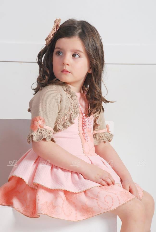 Kauli Vestido Acuarela Rosa Pastel & Volantes   Missbaby