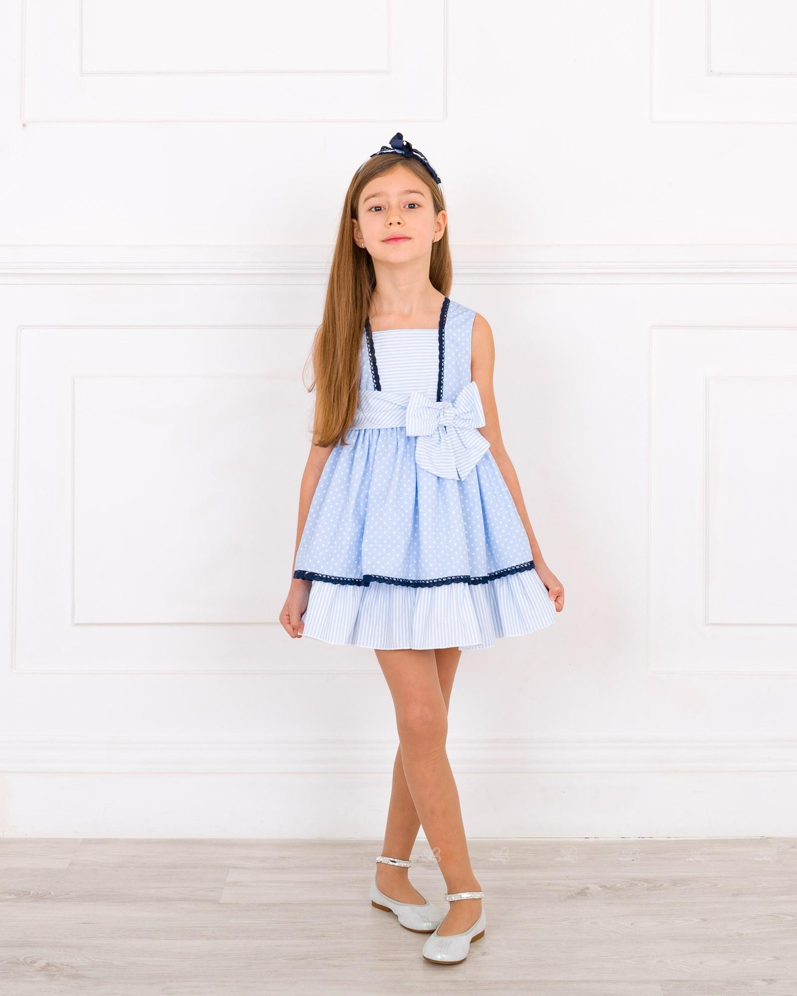 Outfit Vestido Lunares U0026 Rayas Azul - Outfits | Missbaby