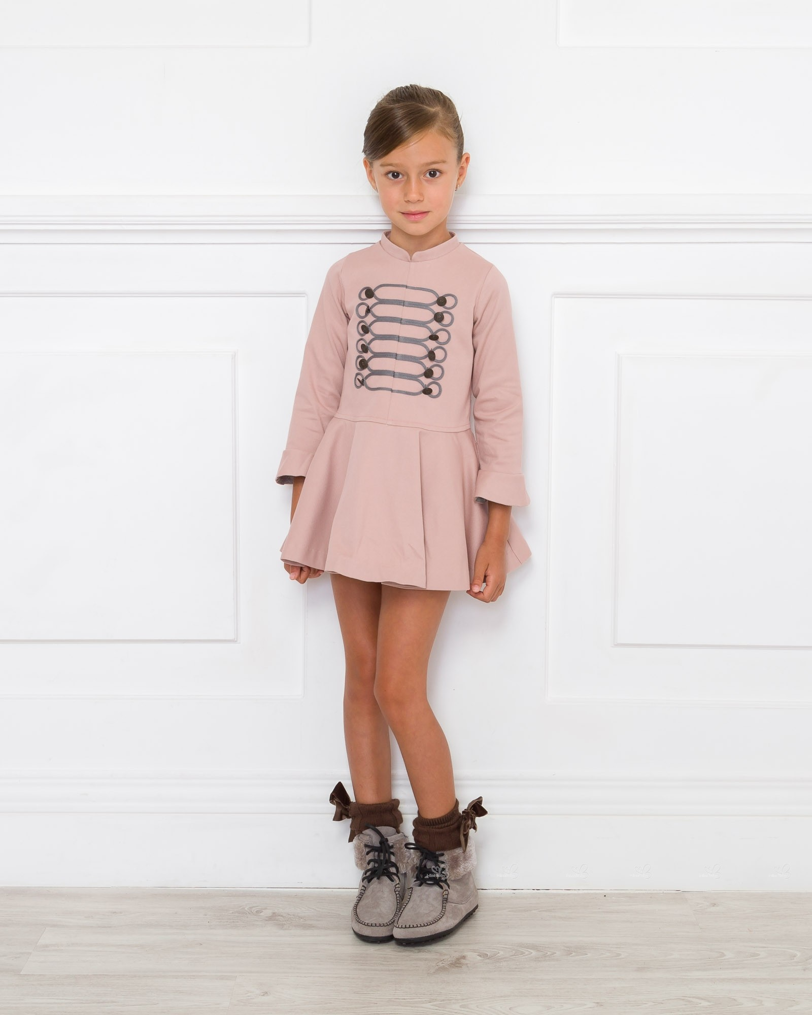 Outfit Vestido Volante Rosa Palo | Missbaby
