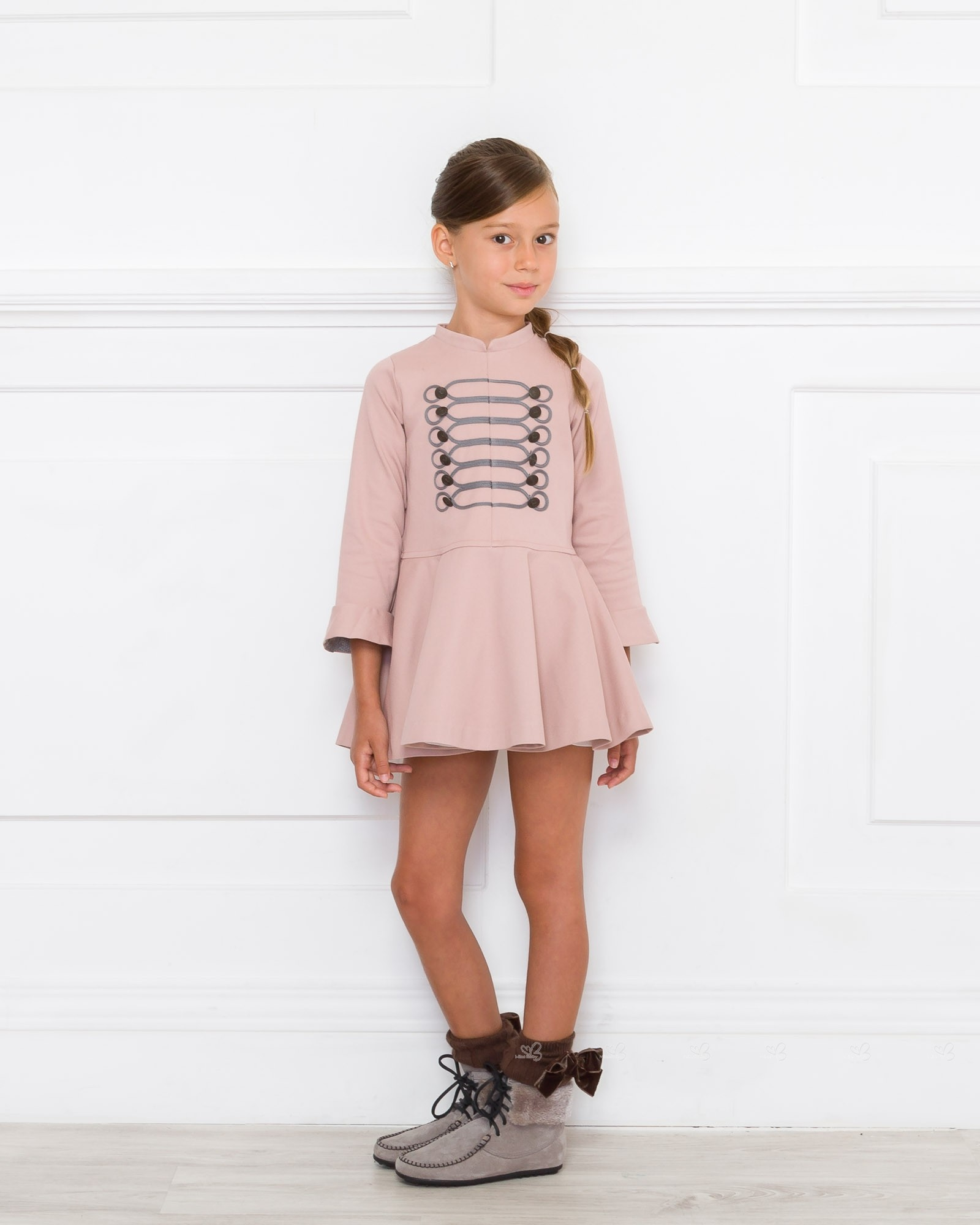 Outfit Vestido Volante Rosa Palo - Outfits | Missbaby
