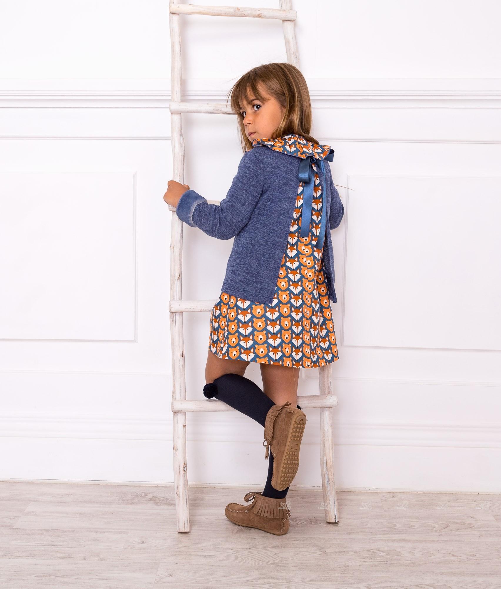 Outfit Vestido Zorritos Con Jersey Azul - Outfits | Missbaby