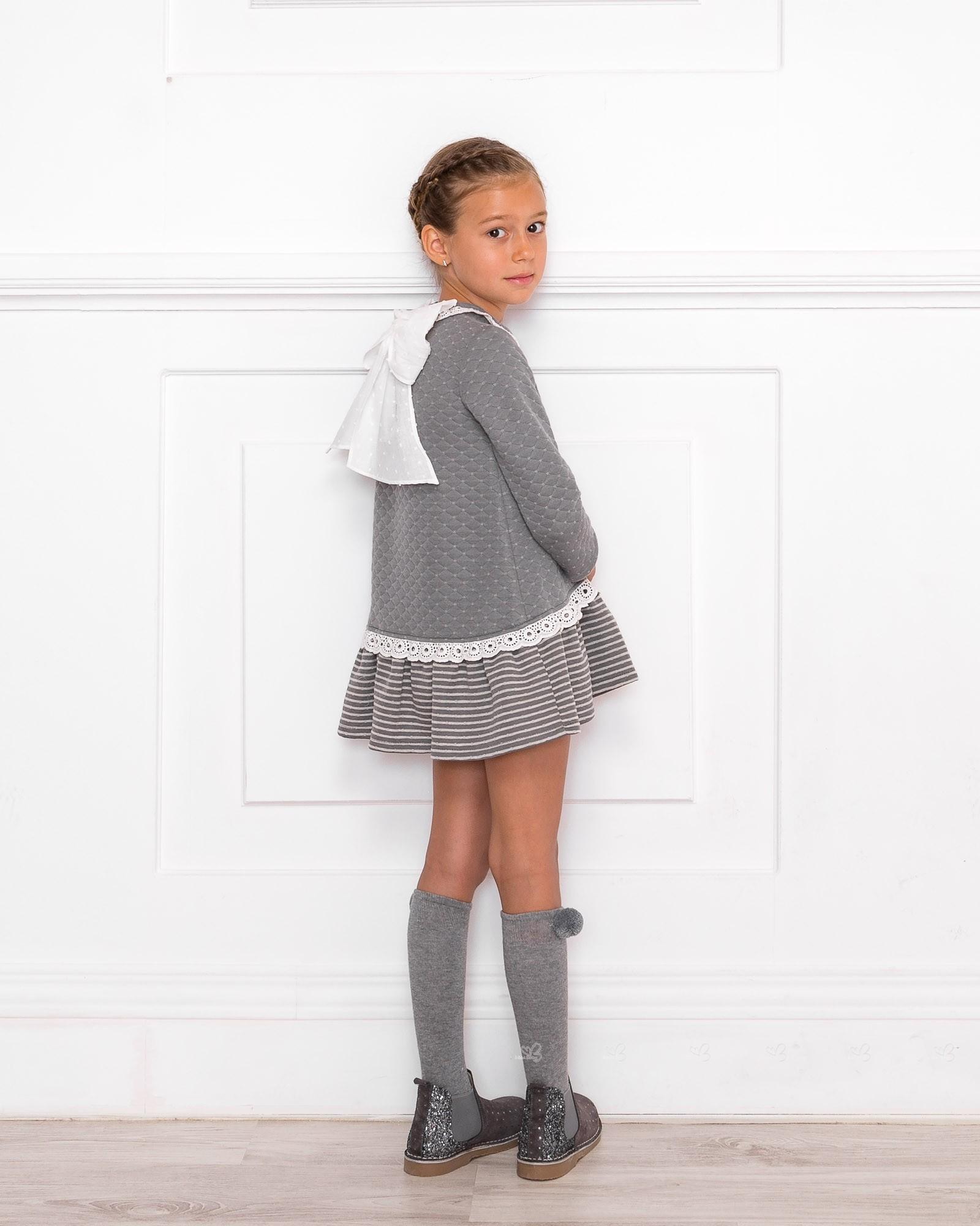 Outfit Vestido Sudadera Gris | Missbaby