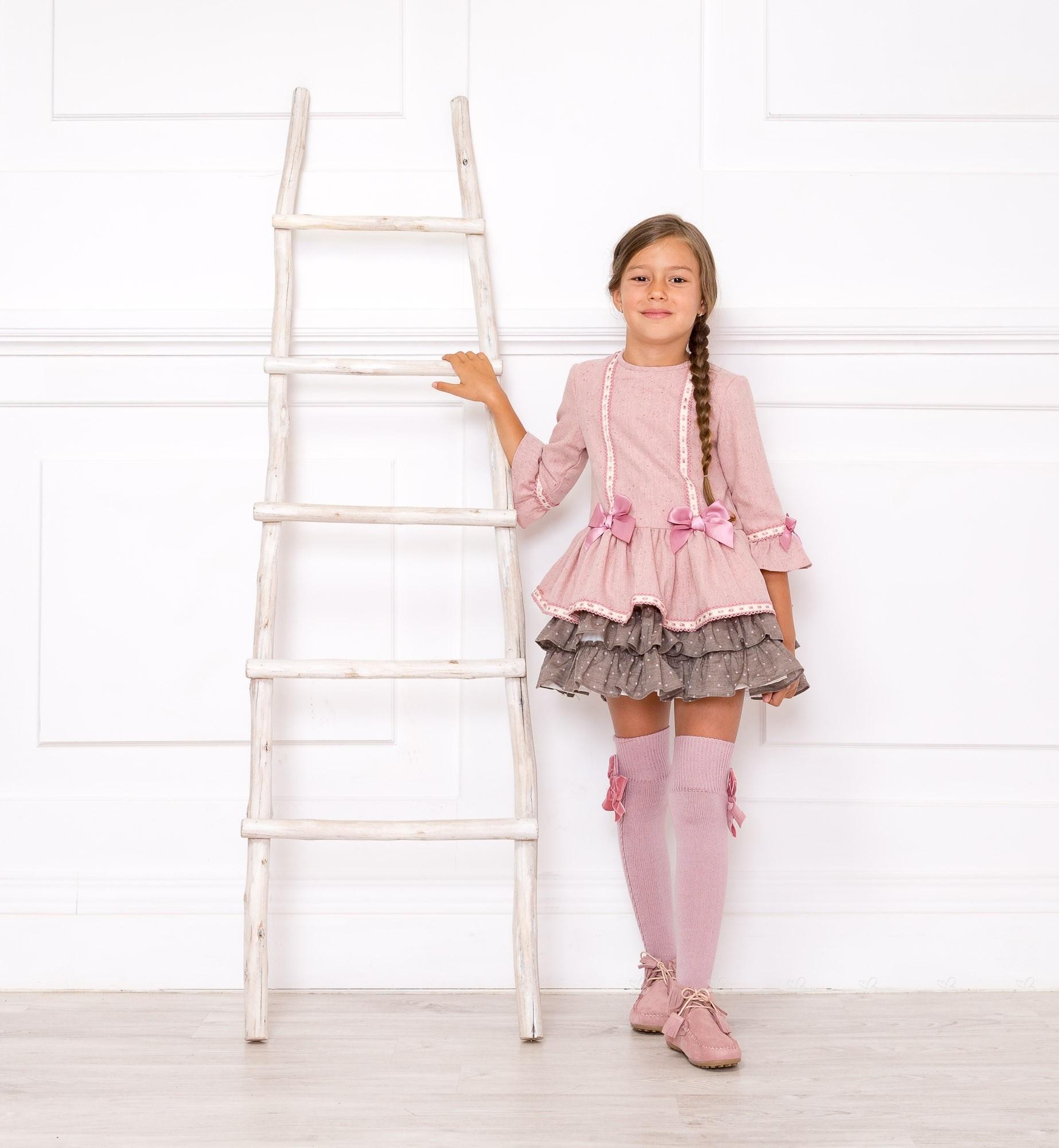 Outfit Vestido Rosa Palo Dolce Petit | Missbaby