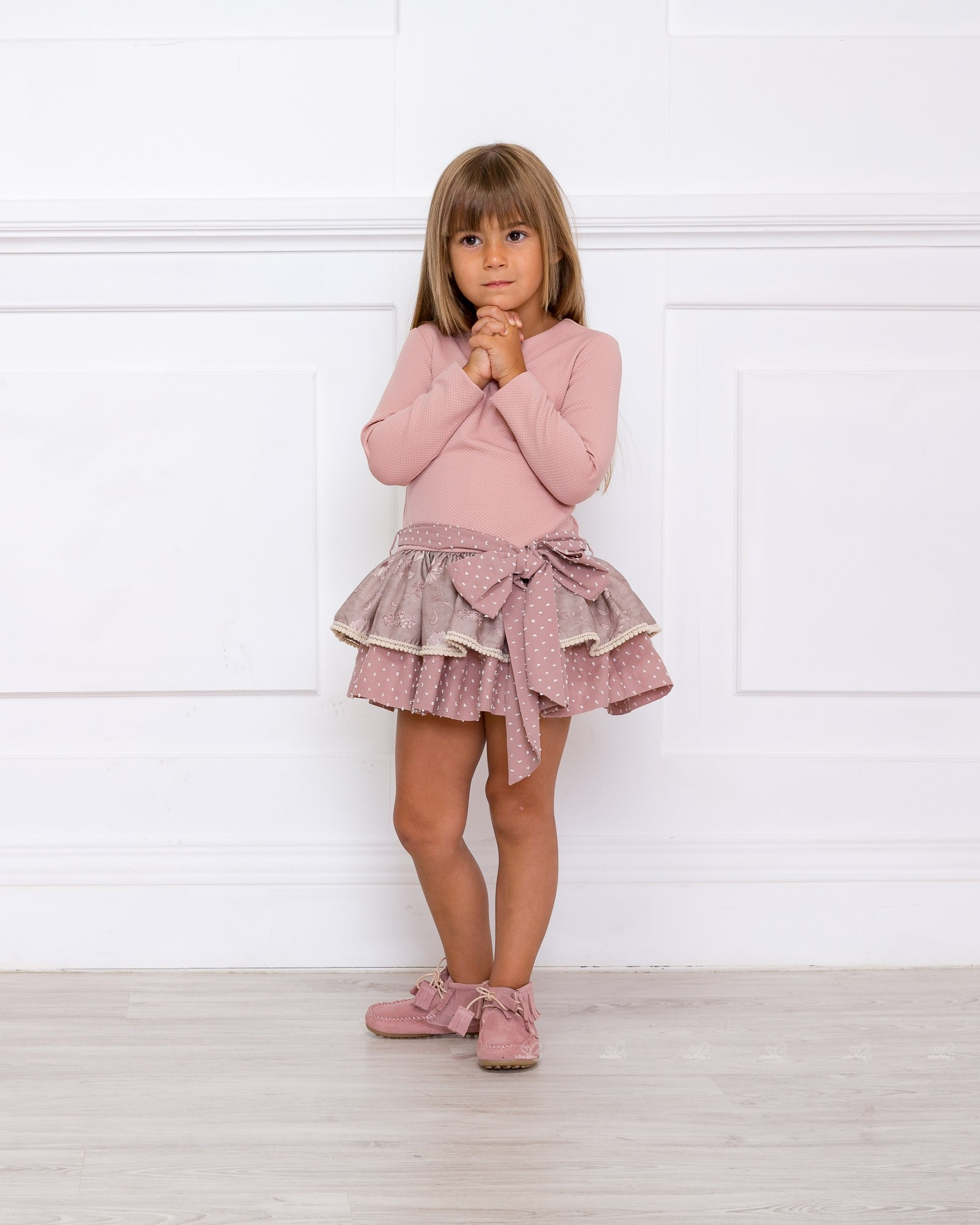 Outfit Vestido Punto Elu00e1stico Rosa Palo - Outfits | Missbaby