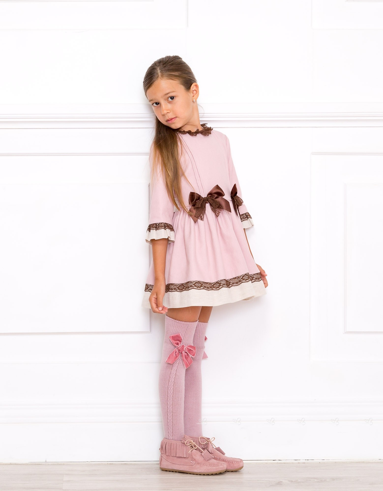 Outfit Vestido Rosa Palo u0026 Chocolate Dolce Petit - Outfits | Missbaby