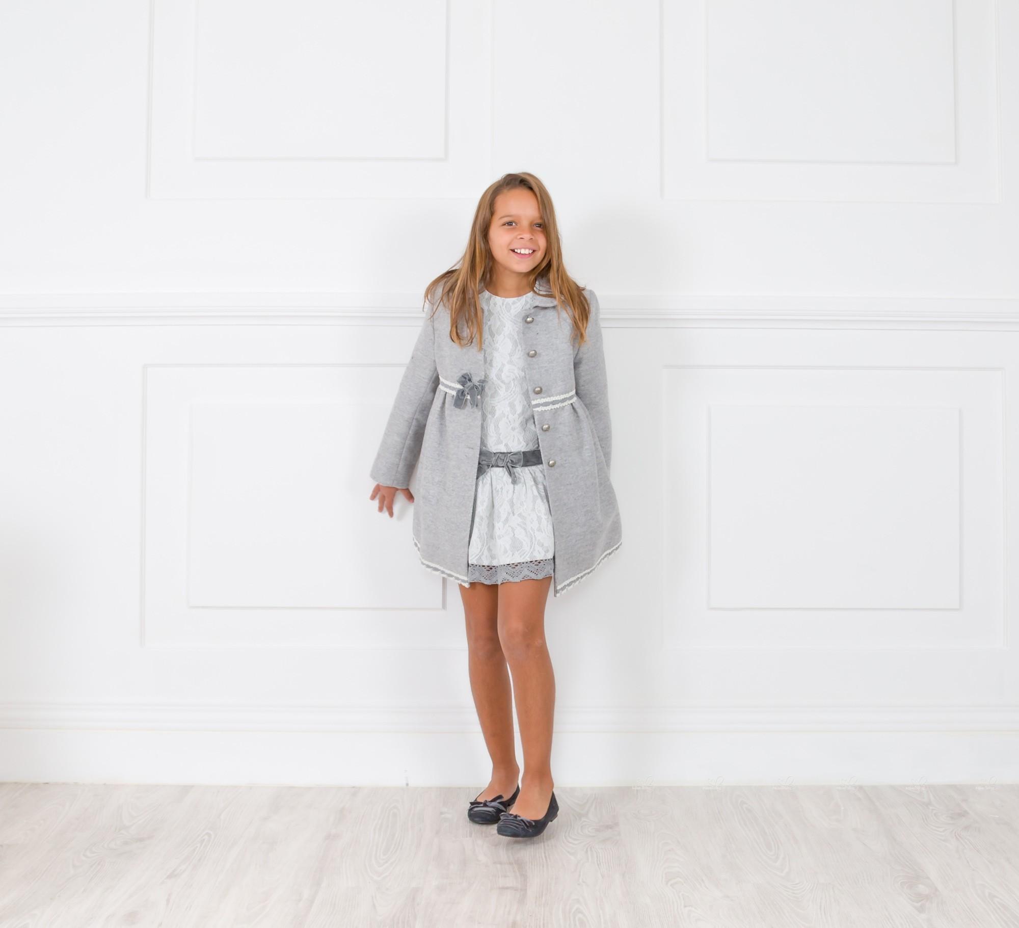 Vestidos punto gris