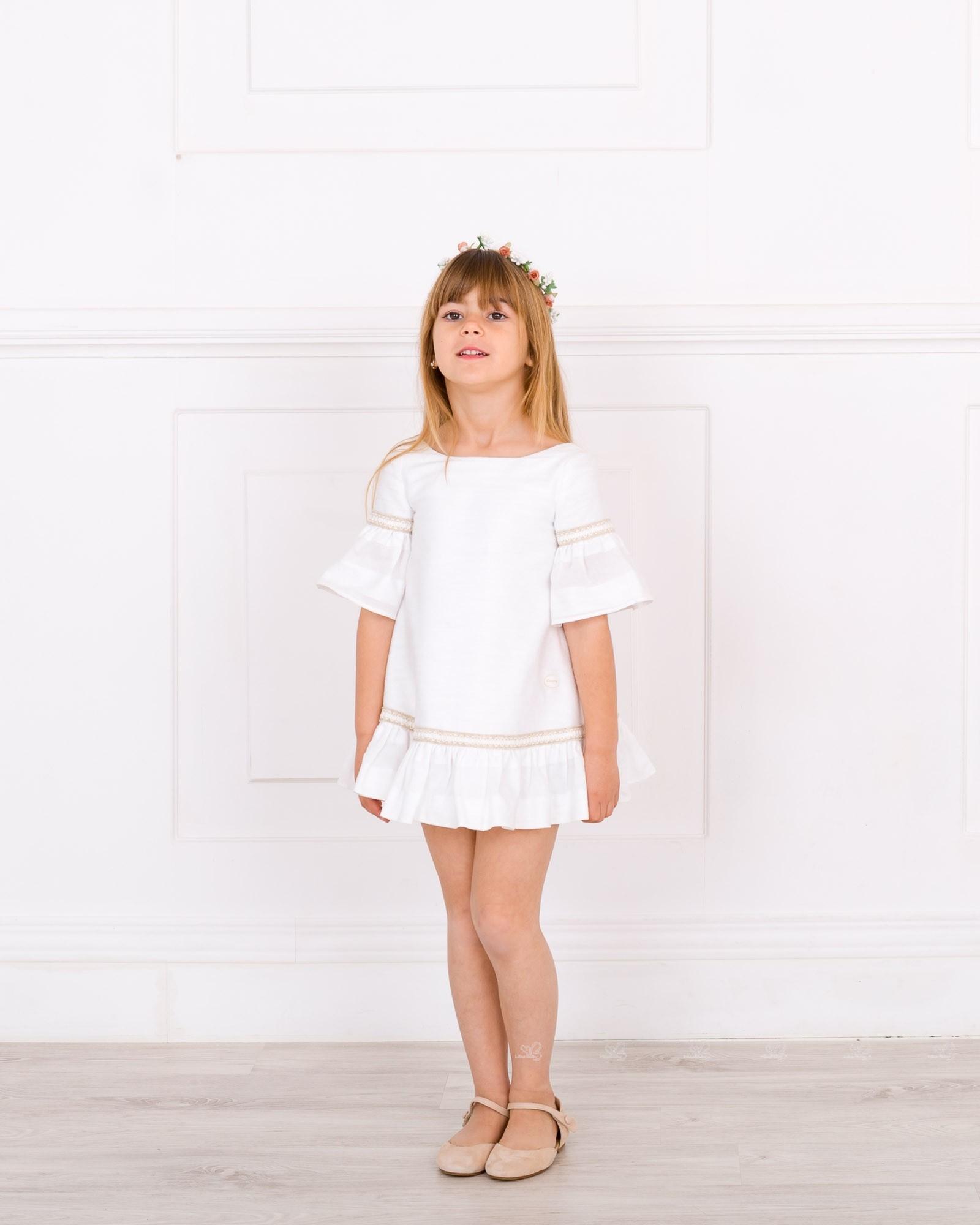 Vestido blanco vuelo nina