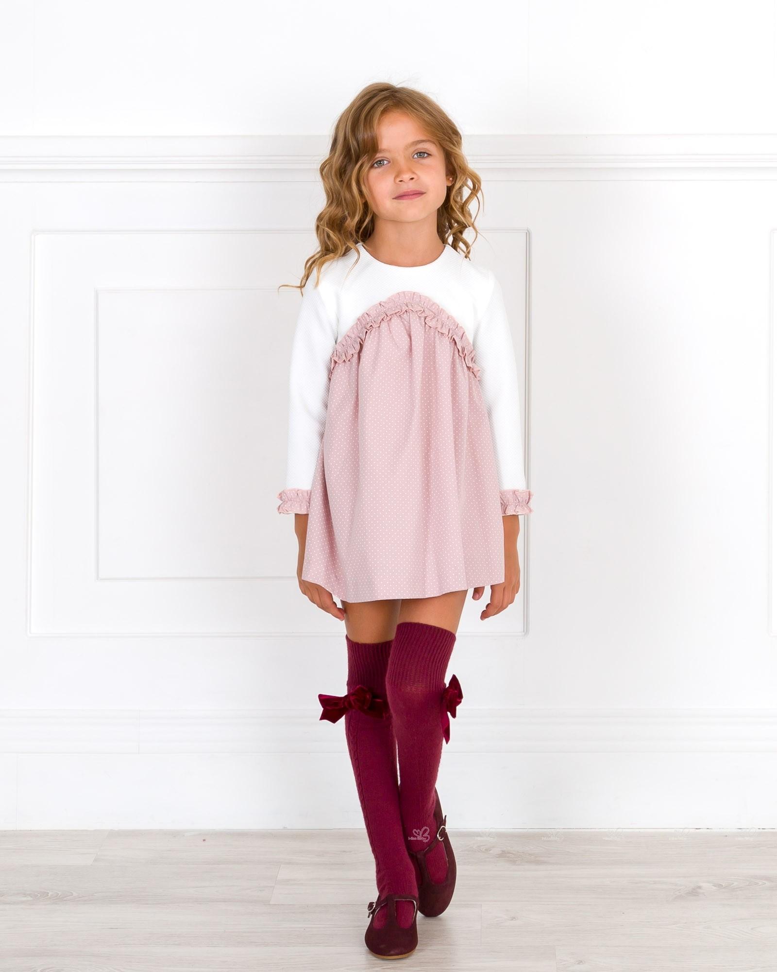 Nekenia vestido topitos rosa empolvado crudo missbaby - Color rosa empolvado ...