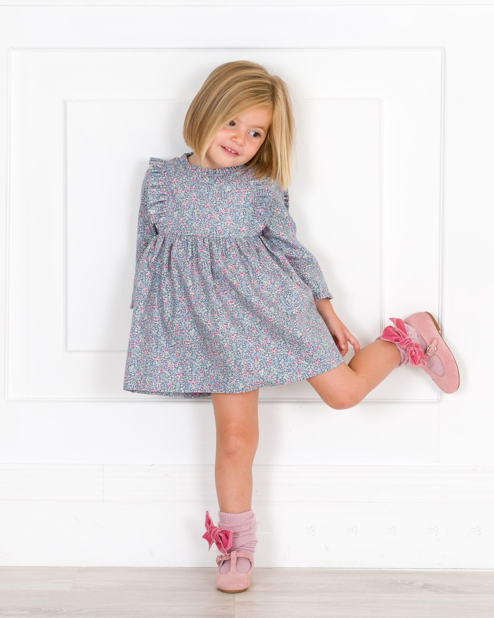 Vestido Niña Alto Rosa Liberty Talle Azulamp; Oy8nmN0wPv
