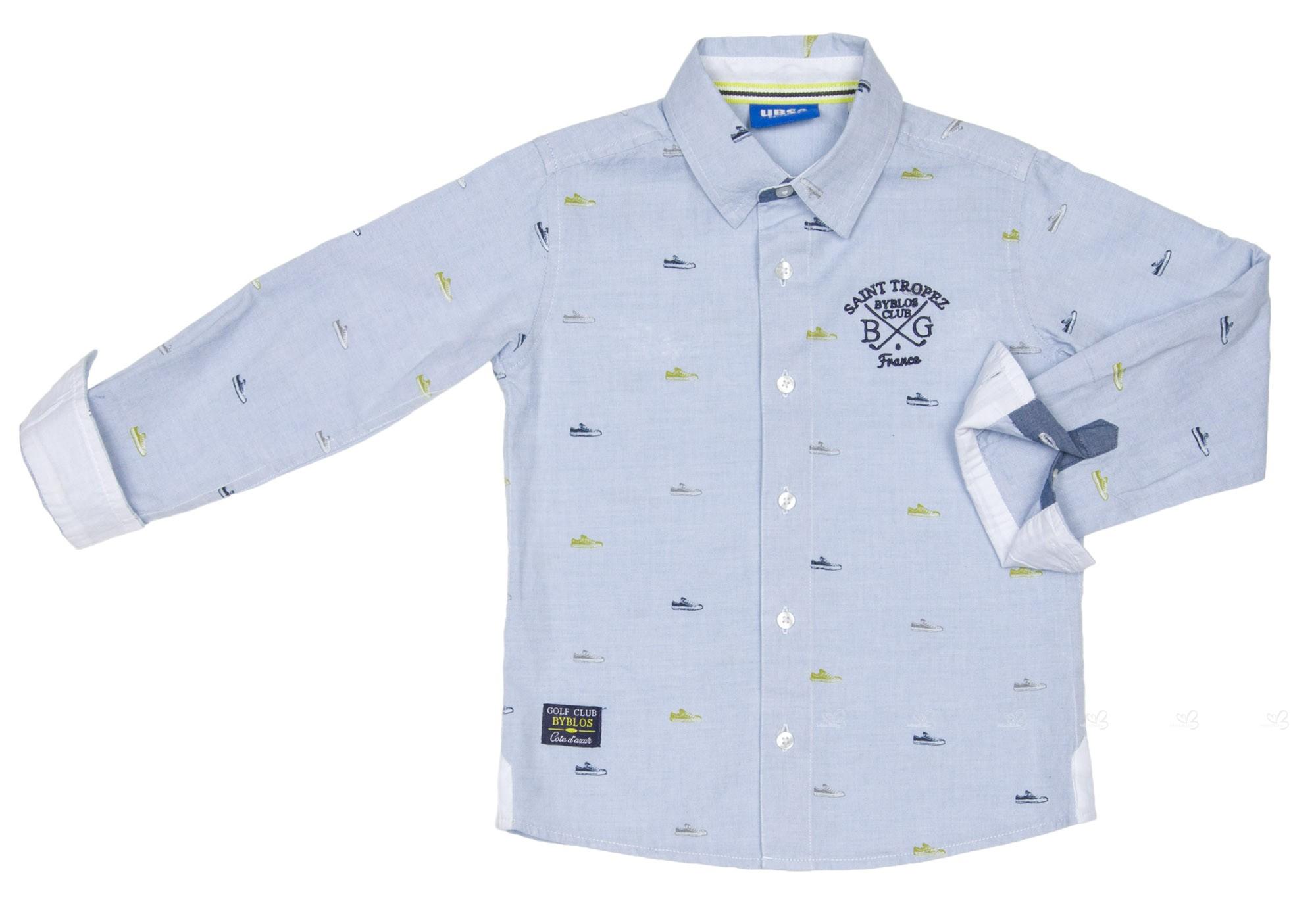 bad4964e7 UBS2 Camisa Niño Estampado Zapatillas Azul   Lima