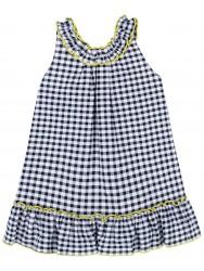 Vestido Niña Vichy Negro & Lazos Amarillos
