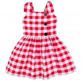 Vestido Niña Vichy Rojo & Blanco