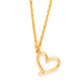 Collar con Cadena Chapada en Oro & Colgante Corazón