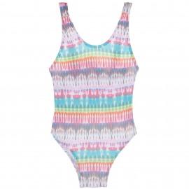 Bañador Niña Estampado Tie-dye con Volantes & Borlas Multicolor
