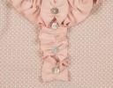 Vestido Rosa Empolvado Volantitos