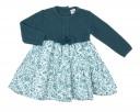Vestido Bebé Combinado Azul & Estampado Floral