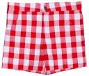 Conjunto Niño Camiseta Pato & Short Vichy Rojo