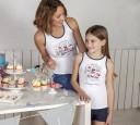 Camiseta Niña Mami Like Me Blanco & Marino