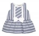 Vestido rayas marino & blanco con lazo