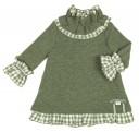 Vestido Punto & Cuadros Vichy Verde