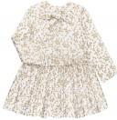 Cocote Vestido Niña Estampado Floral Dorado con Lazo