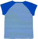 Camiseta Rayas Azul & Parches Chic
