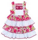 Vestido Volantes Estampado floral & cuadro vichy