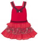 Vestido Tirantes Punto & Plumeti Rojo