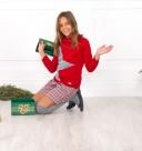 Conjunto Jersey Estrella & Short Tweed Rojo & Gris