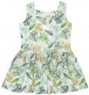 Rochy Vestido Niña Estampado Tropical con Lazos Espalda & Collar