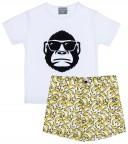 Mon Petit Bonbon Conjunto Niño Camiseta Gorila & Short Plátanos